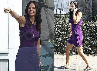 Pictures of Courteney Cox Filming Cougar Town in Malibu