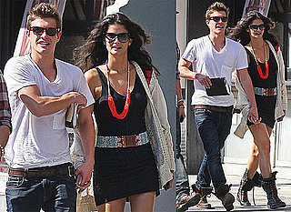 Pictures of Xavier Samuel and Shermine Shahrivar in New York