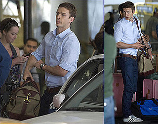 Pictures of Justin Timberlake Staying Grounded at LAX on the Set of Friends With Benefits