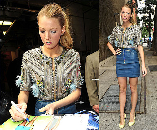 Pictures of Blake Lively Arriving to Live With Regis and Kelly in NYC 2010-09-14 11:30:00