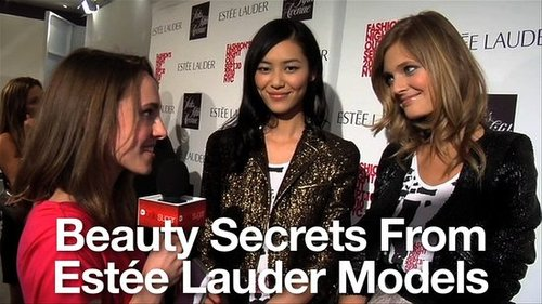 Beauty Tips and Advice From Estée Lauder Models Constance Jablonski, Liu Wen, Hilary Rhoda and Carolyn Murphy