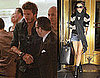 Pictures of David Beckham Eating at Cleo in LA and Victoria Beckham Leaving NYC Hotel
