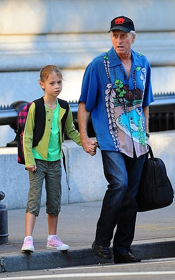 Michael Douglas was spotted taking his daughter Carys Zeta Douglas to her Manhattan school.