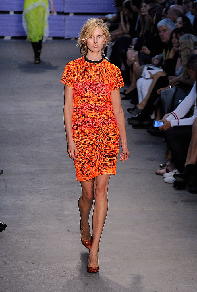 This fuss-free dress silhouette is the perfect desk to dinner ensemble, and I love this tangy orange colour.