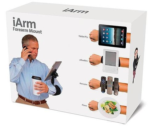 iArm iPad Accessory Prank Box