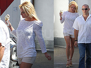 Pictures of Britney Spears Grabbing Ice Cream Before Heading to the Studio in LA