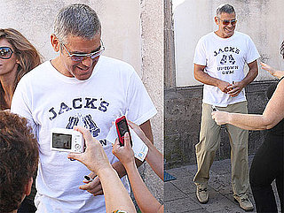 Pictures of George Clooney Visiting Elisabetta Canalis's Parents in Sardinia, Italy