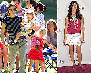 Pictures of Jennifer Garner With Violet and Seraphina and at Pink Party in LA
