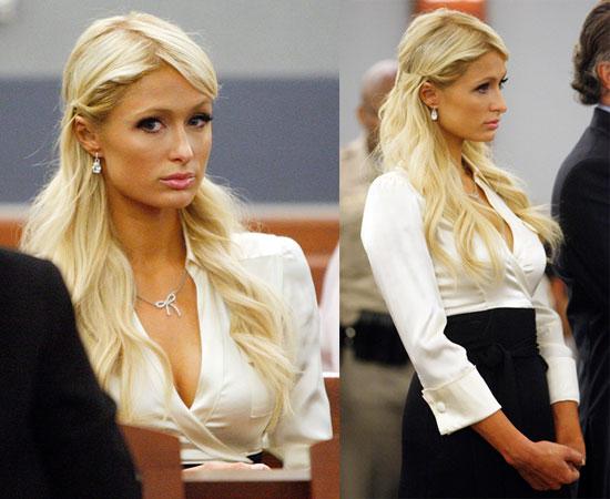 Pictures of Paris Hilton in Court