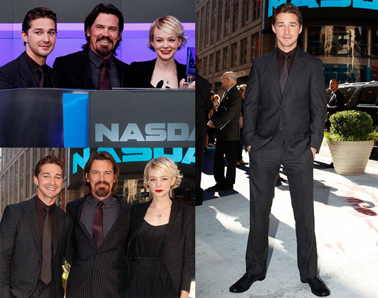 Pictures of Carey Mulligan, Shia LaBeouf and Josh Brolin Ringing the Bell at the NYSE