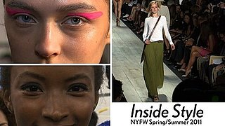 Spring 2011 New York Fashion Week Trends: Pop Art Makeup, '70s Looks, White, Maxi Skirts