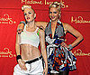 Slide Picture of Gwen Stefani and Her Wax Figure in Las Vegas