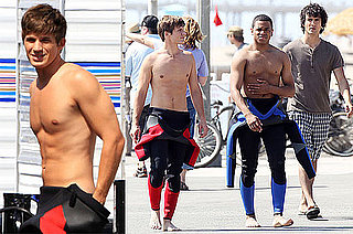 Pictures of Shirtless 90210 Actors Matt Lanter and Tristan Wilds