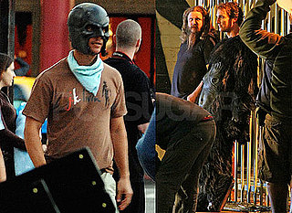 Pictures of Matthew McConaughey Wearing Mask Filming Music Video