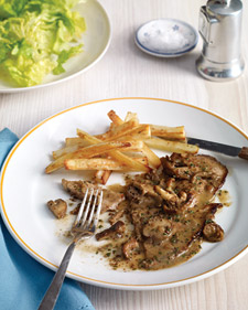 Fast & Easy Recipe For Veal Paillards With Mushroom Sauce