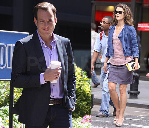 Pictures of Keri Russell and Will Arnett Filming Running Wilde