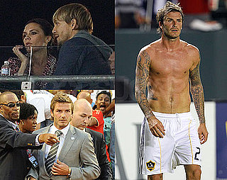 Pictures of Shirtless David Beckham With Victoria and Ken Paves Watching