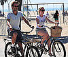 Slide Picture of Anna Paquin and Stephen Moyer Riding Bikes in LA