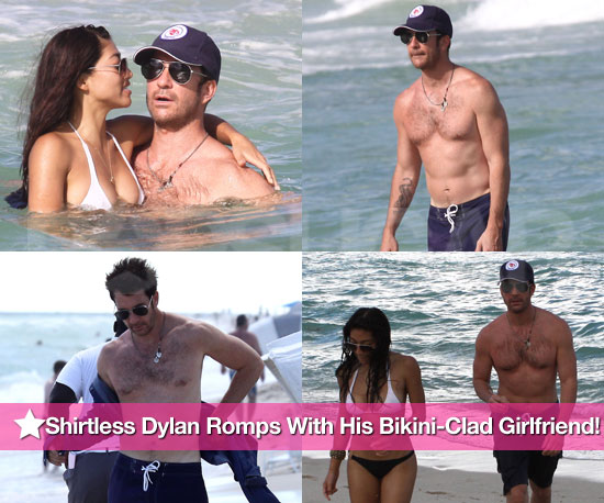 Shirtless Dylan McDermott Romps at the Beach With His Young, Bikini-Clad Girlfriend!