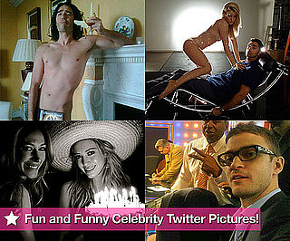 Russell, Hilary, Justin, the Glee Kids, and More in This Week's Fun and Funny Celebrity Twitter Pictures!