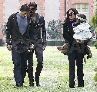 Pictures of Halle Berry and Olivier Martinez Holding Hands at Salma Hayek's French Home With Valentina