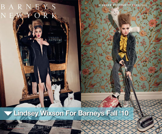 Lindsey Wixson Plays Designer Dress Up For Barneys Fall '10