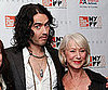 Slide Picture of Russell Brand and Helen Mirren Promoting The Tempest