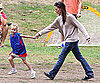 Slide Picture of Jennifer Garner and Violet Playing Soccer
