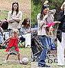 Pictures of Jennifer Garner at Soccer Practice With Violet, Seraphina, and Chris Affleck