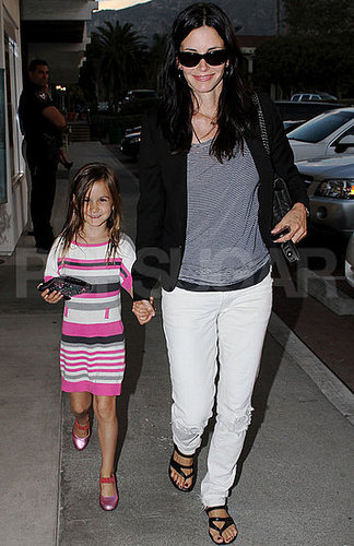 Pictures of Courteney Cox and Coco Arquette in Malibu