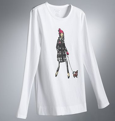 Kohl's Cares Simply Vera Vera Wang Girl & Dog Tee ($5)