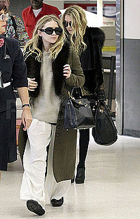 Pictures of Mary-Kate and Ashley Olsen at LAX After Paris Fashion Week