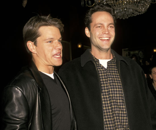Vince Vaughn hung out with Matt Damon during the Good Will Hunting premiere in December 1997 in NYC.