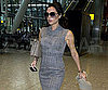 Slide Picture of Victoria Beckham at Heathrow in London