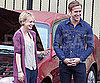 Slide Picture of Ryan Gosling and Carey Mulligan Filming Drive