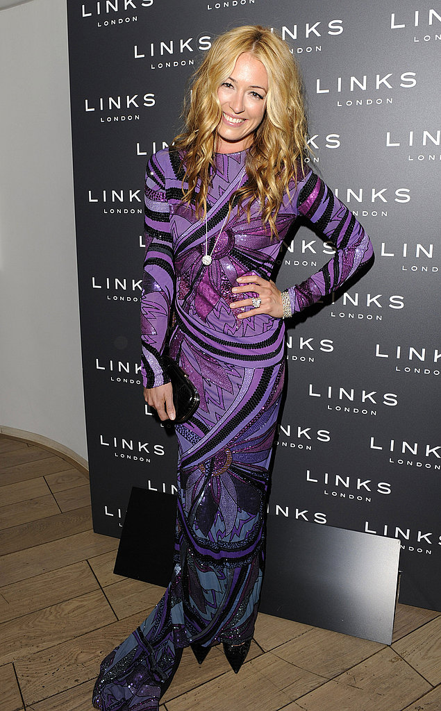 Cat Deeley is a showstopper at London Fashion Week, wearing psychedelic purple print Pucci — and totally pulling it off.