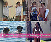 Pictures of Leonardo DiCaprio Shirtless With Bar Refaeli and Naomi Campbell in Bikini