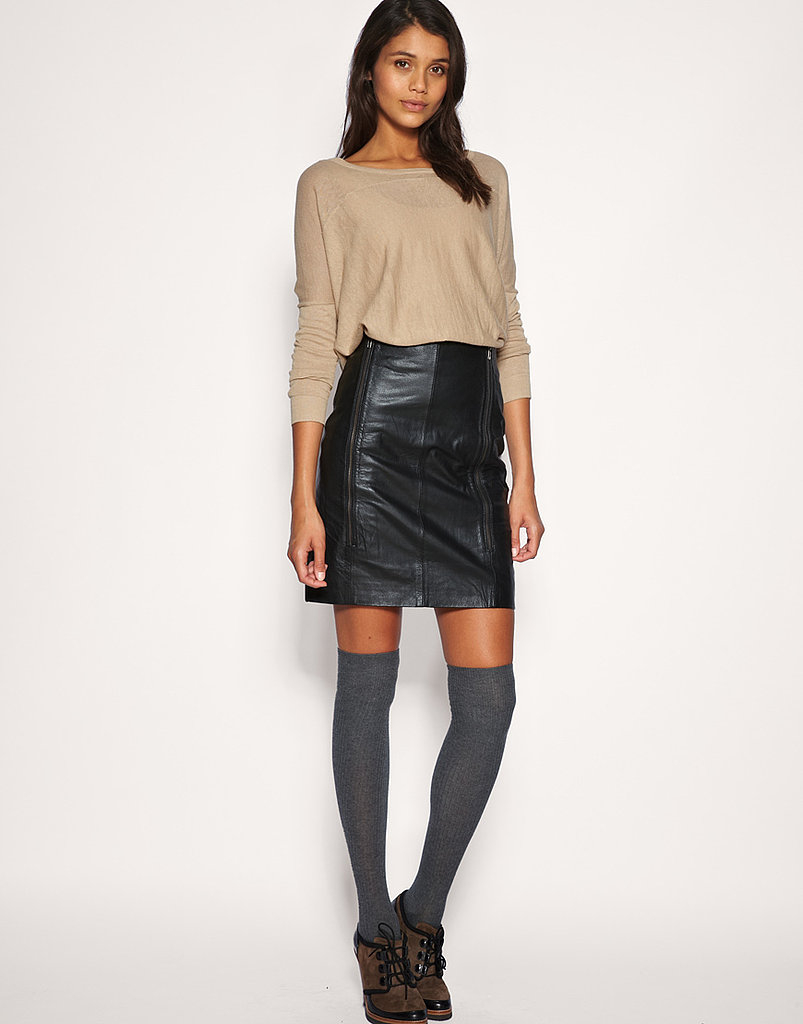 Vila Leather Skirt ($144)