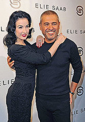 Dita Von Teese attends the Elie Saab Ready to Wear Spring/Summer 2011 show during Paris Fashion Week