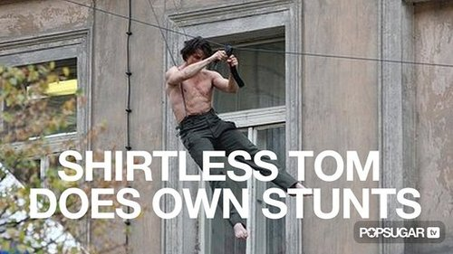 Video of Tom Cruise Doing Shirtless Stunts For Mission Impossible 4 2010-10-06 12:59:51