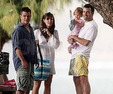 Ben Affleck and Jennifer Garner brought Violet along for a friendly beach meet up with Matt Damon during their June 2007 Hawaiian vacation.