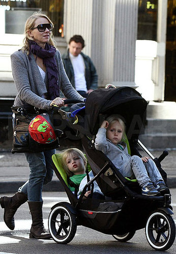 Pictures of Naomi Watts Strolling With Alexander and Sasha in NYC