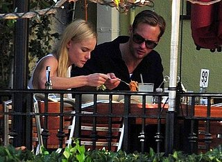 Pictures of Kate Bosworth Walking Her Dog and Eating with Alexander Skarsgard