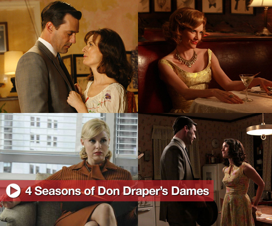 A look back at Don Draper's many women on Mad Men