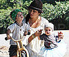 Slide Picture of Levi and Vida McConaughey on Walk With Camila Alves