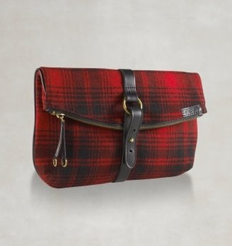 Rugby Wool Plaid Fold-Over Clutch ($98)