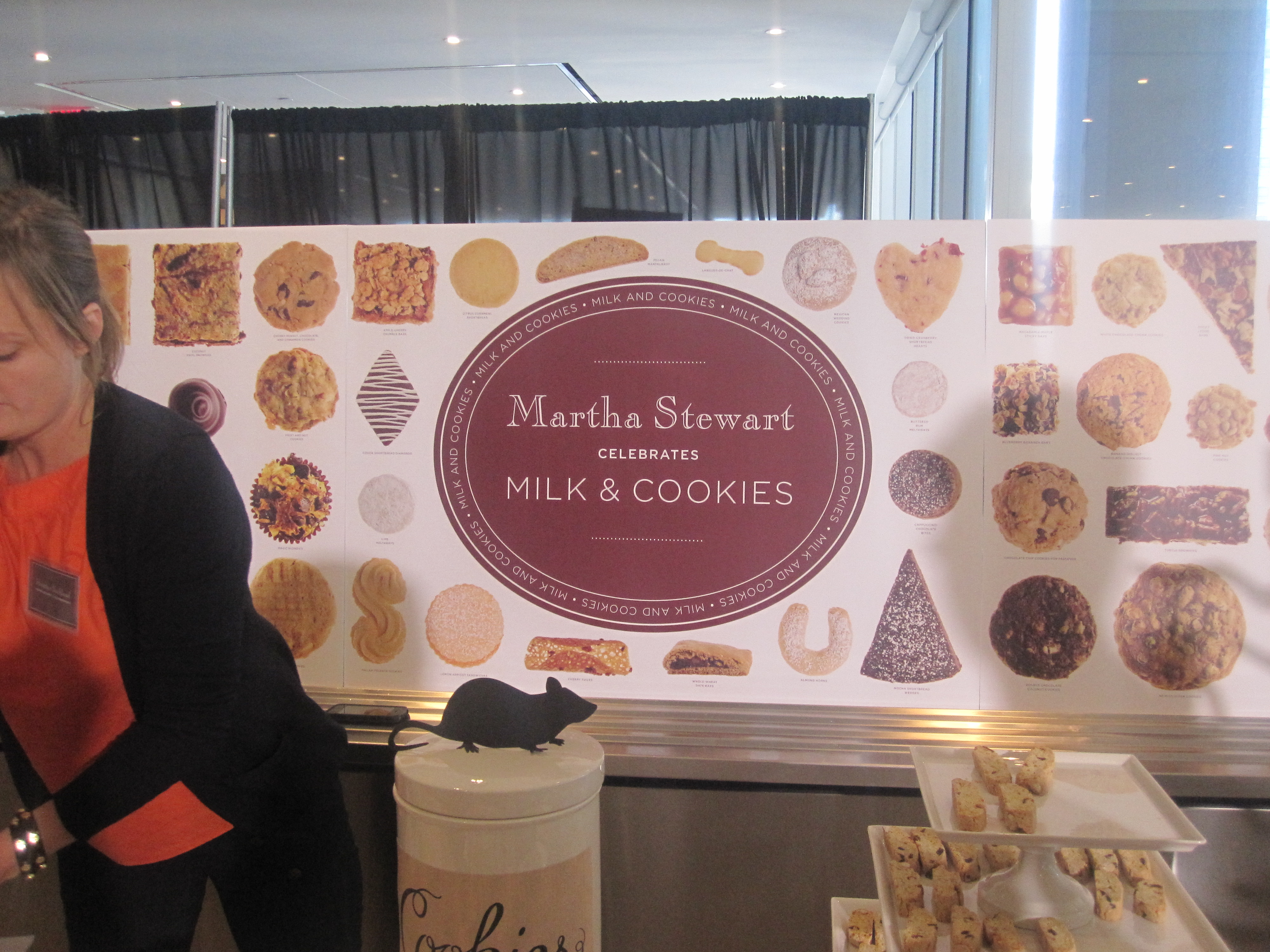 Martha Stewart Living set up a lavish cookie display.