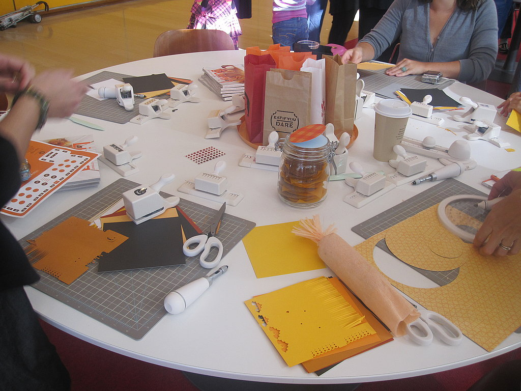 This table was all about paper crafts.