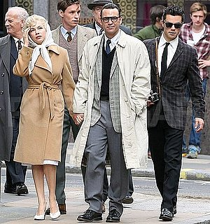 Pictures of Michelle Williams, Dougray Scott, and Dominic Cooper on the Set of My Week With Marilyn