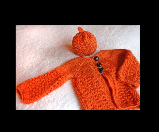 Pumpkin Sweater and Cap